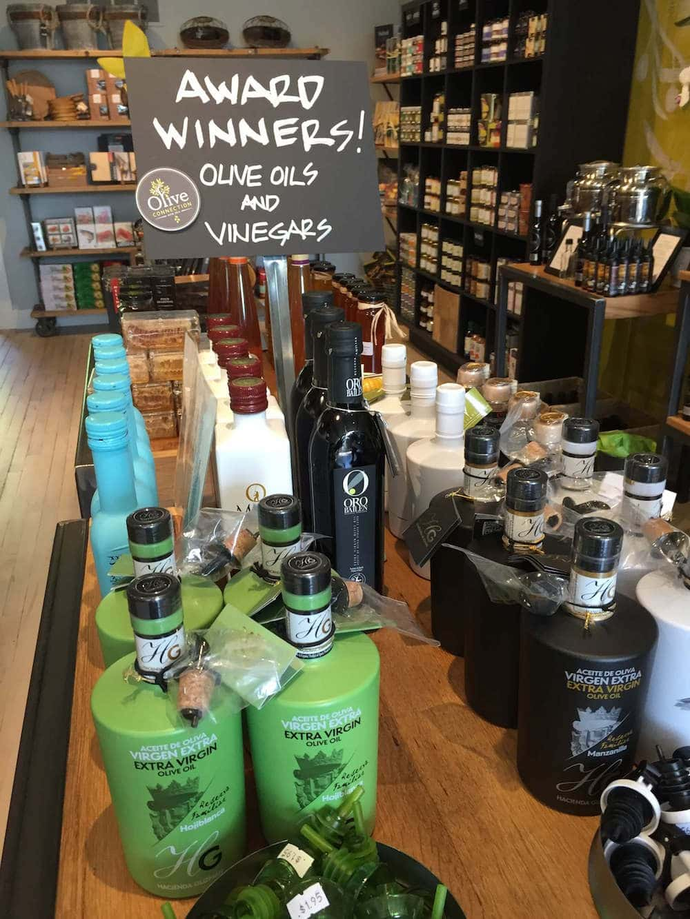 Award Winning Olive Oils and Vinegars at Olive Connection